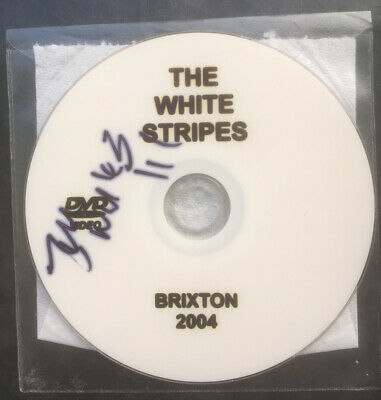 Jack White The White Stripes Signed Brixton 2004 White Label DVD • 40£