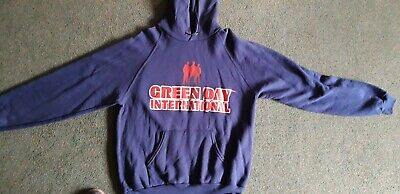 GREEN DAY INTERNATIONAL SUPERHITS TOUR Vintage Hoodie Unworn Condition Medium • 10£