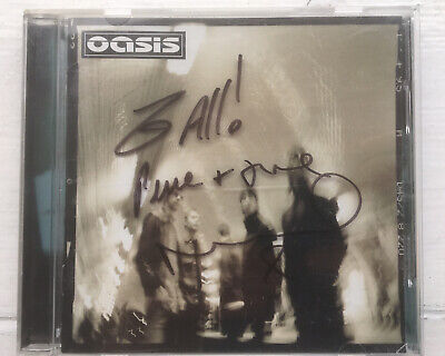 Oasis Heathen Chemistry CD Hand Signed By Noel Gallagher 2 All Peace And Love • 70£