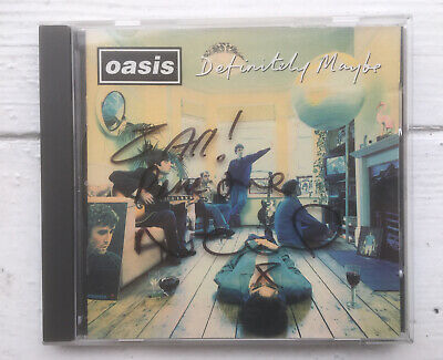 Oasis Definitely Maybe CD Hand Signed By Noel Gallagher 2 All Peace Love • 70£