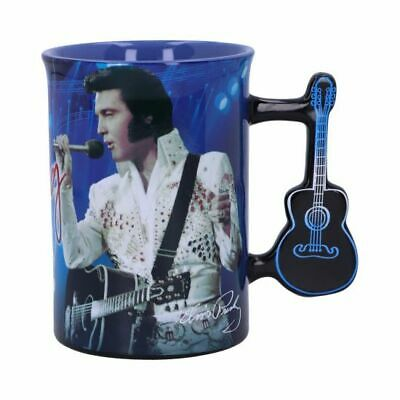 Mug - Elvis The King Of Rock And Roll Blue Cup Officially Licensed FREE P+P • 14.99£