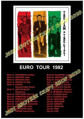 The Jam The Gift 1982 Euro Tour Poster A3 Size - Very High Quality Reprint • 8.99£