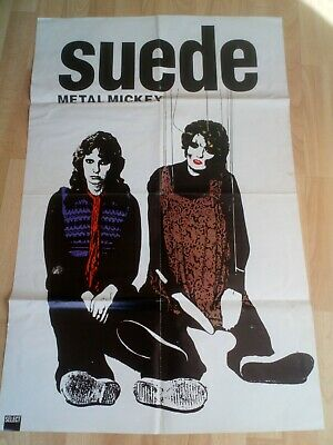 Suede Metal Mickey Poster  From Select Magazine Double Sided With Stereo Mcs • 10£