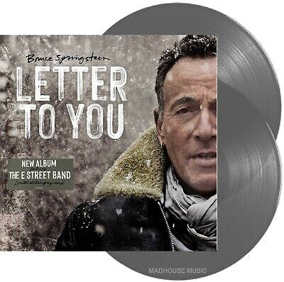 BRUCE SPRINGSTEEN LP X 2 Letter To You GREY Vinyl LIMITED EDITION Gray SEALED • 34.95£
