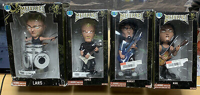 Metallica Bobbleheads SEG 2003  NIB Never Opened Kirk, Robert, Lars, & James • 172.60£