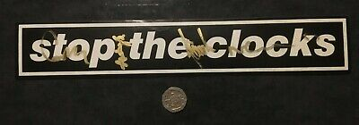 Oasis Stop The Clocks Promo Sticker Hand Signed By Noel Liam Gallagher Gem Andy • 82£