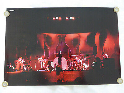 Genesis - Classic Line-up Peter Gabriel Repro Poster 1973 Ex+ Condition • 12£
