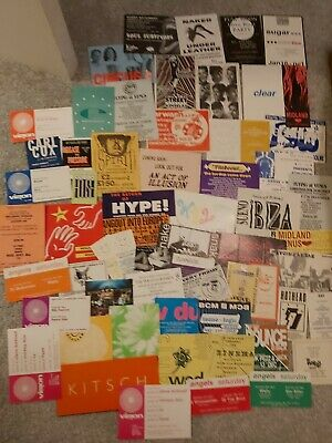 Acid House Rave Flyers 1990 To 1992 Job Lot Bundle Collection Over 60 Flyer • 10£