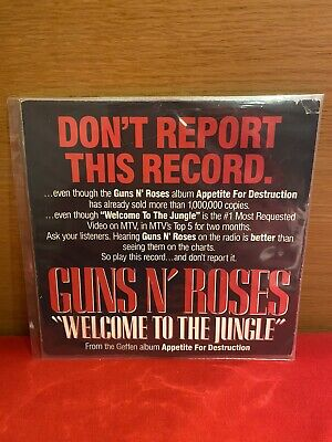 """Guns N' Roses Welcome To The Jungle Rare Promo 7"""" Vinyl • 27.03£"""