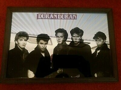 Vintage Duran Duran 1980's Picture Mirror Framed 33 X 23cm Carnaby Street London • 18.99£