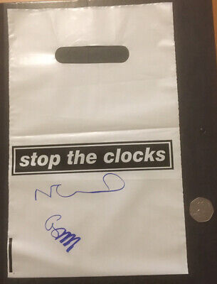 "Oasis Stop The Clocks Promo 7"" Single Bag Signed By Noel Gallagher & Gem Archer • 50£"