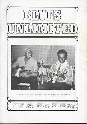 BLUES UNLIMITED : No.83 : July 1971 : Robert Johnson & Amos Milburn • 10£