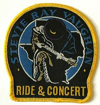 STEVIE RAY VAUGHAN - Tribute Woven Patch Sew On Rare Aufnäher écusson Parche • 5.50£