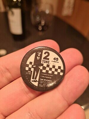 2 Tone Original Badge The Specials  Two Tone  Ska 1979 Too Much Too Young  • 4.99£