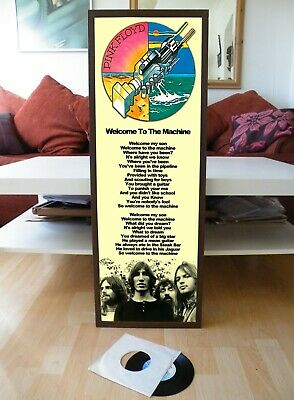 Pink Floyd Welcome To The Machine Promo Poster Lyric Sheet,wall,animals • 13.99£