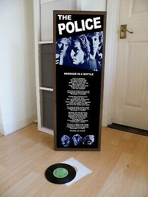 The Police Message In A Bottle Promo Poster Lyric Sheet, Message,roxanne • 13.99£