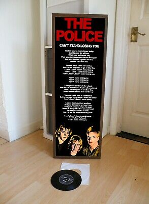 The Police Can't Stand Losing You Promo Poster Lyric Sheet, Message,roxanne • 13.99£
