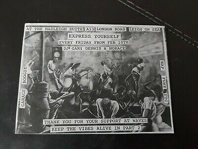 Acid House Rave Flyers Flyer Express Yourself Very Early 1989 Vgc • 4£