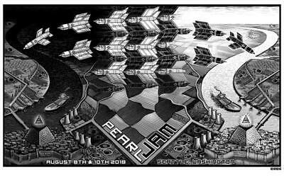 Pearl Jam Poster - Seattle 2018 By EMEK Show Edition *RARE* • 39.95£