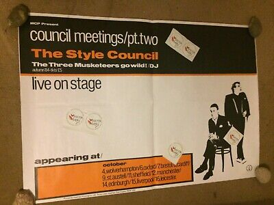 The Style Council Meetings Pt Two Official Original Very Rare Tour Poster Weller • 150£