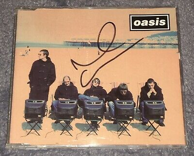 Oasis Roll With It Noel Gallagher Hand Signed Live Forever Rare • 19.99£