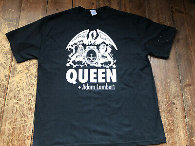 Genuine Queen + Adam Lambert On Tour T- Shirt • 5£