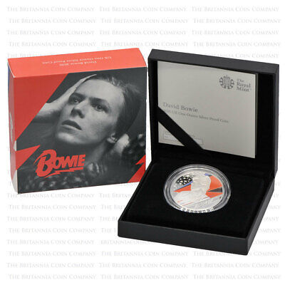 2020 Royal Mint Music Legends DAVID BOWIE Silver Proof One Ounce 1oz - Boxed • 109£