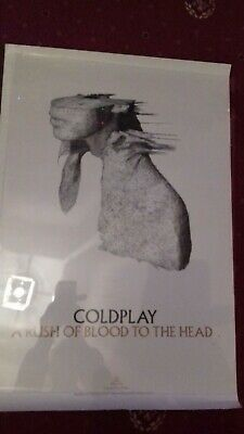 Coldplay Official A Rush Of Blood To The Head Very Rare Gloss Poster Size 30/20  • 9.99£