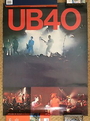 UB40 Original Vintage 1981 SKA REGGAE Music Poster SIGNED By Astro ONE IN TEN • 59.95£