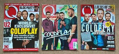 Coldplay - Q Magazine X3 Issues, 227 June 2005, 306 Jan 2012, 354 Jan 2016 • 7.99£