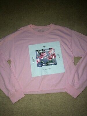 Taylor Swift Lover ME! Crop Pink Tshirt Medium Long Sleeve Authentic Merch Rare • 40£