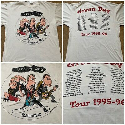 Green Day Tour T  Shirt 1995 Insomniac Vintage 90s Original • 150£