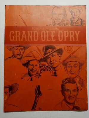 1950's GRAND OLE OPRY SOUVENIR PROGRAM GREAT PICTURES AND BIOS JORDANAIRES • 10.63£