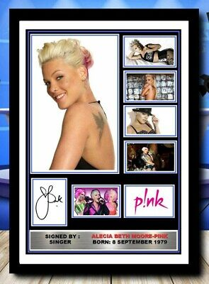 521) Alecia Beth Moore Pink Signed Unframed/framed Photograph (reprint) @@@@@@@@ • 5.99£