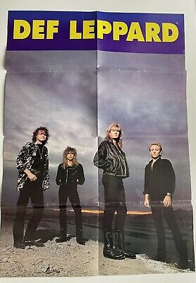 Def Leppard Fold Out Poster  • 4.50£