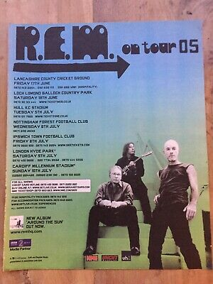 R.E.M - Original NME Full Page Magazine Tour Advert 2005 Small Poster • 6£