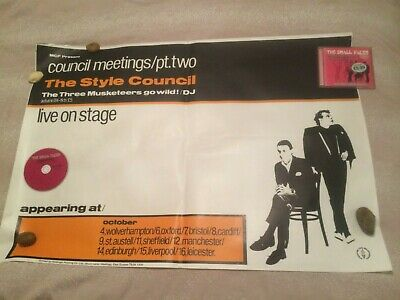 The Style Council Meetings Pt Two Official Original Very Rare Tour Poster Weller • 200£