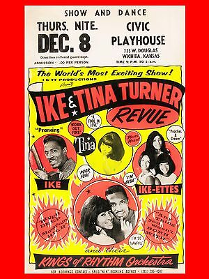 Ike And Tina Turner Wichita 16  X 12  Reproduction Concert Poster  • 7.95£