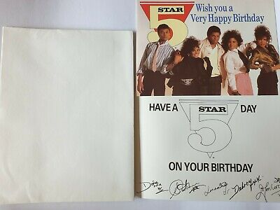 5 Five Star - Rare - Fan Club - Signed Birthday Card + Envelope - Denise Pearson • 12.95£