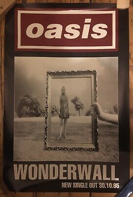 Oasis Wonderwall Poster From 1995 • 40£