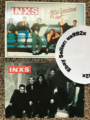 2 X INXS Postcards COOL DESIGNS Genuine 1980s 80s Michael Hutchence VINTAGE • 4.99£