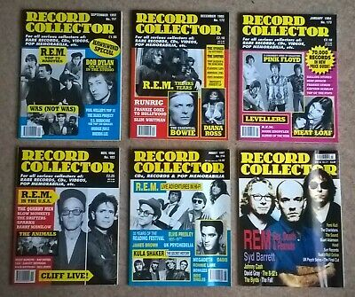 R.E.M. X6 Record Collector Magazine 157 172 173 183 216 271 (rarities, Live IRS) • 14.99£