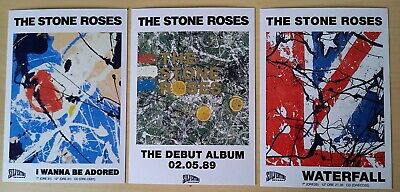 The Stone Roses Postcard Flyer Set - Brand New FREE POSTAGE 24HR DISPATCH • 3.49£