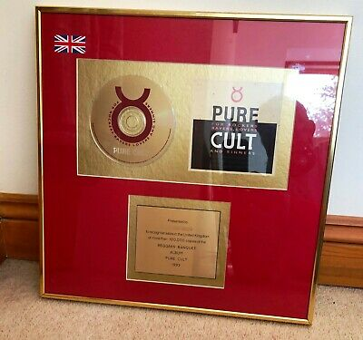 The Cult  Pure Cult  Cd Gold Disc • 250£
