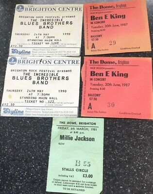 Ben E King, Millie Jackson, The Blues Brothers Band Concert Ticket Stubs • 4.99£