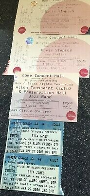 Etta James, Mavis Staples, Allen Toussaint - Concert Ticket Stubs  • 4.99£