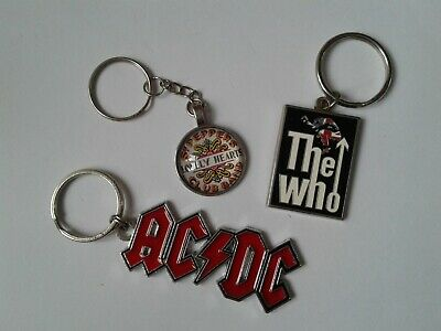Music Related Keyrings. AC/DC, THE WHO, BEATLES. • 3.50£