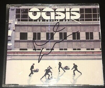 Oasis Go Let It Out Noel Gallagher Hand Signed Rare Wonderwall Live Forever • 19.99£