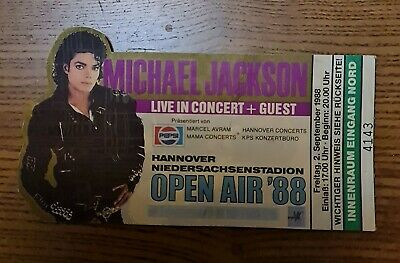 Michael Jackson Open Air '88 Hannover Ticket • 25£