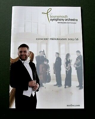 Bournemouth Symphony Orchestra 2015/16 Concert Programme BSO  • 6.59£